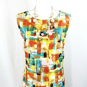 Tahari Summer Shift Dress Size 12